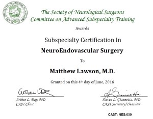 Matthew lawson md - endovascular neurosurgeon - Matthew