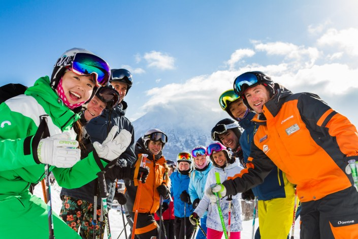 Niseko Base Snowsports lessons group