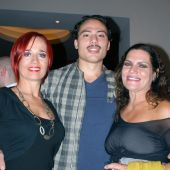 Cast members Marcela Szurkalo, Pablo Monayo and Christina Donadio