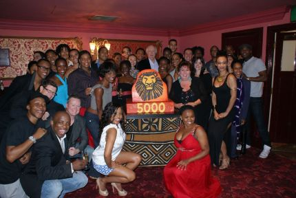The Lion King's 5000th West End performance