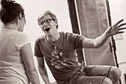 The Fantasticks, in rehearsal