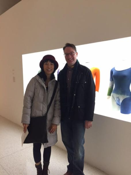 With Gloria Cheng at Walker Arts Merce Cunningham Exhibit