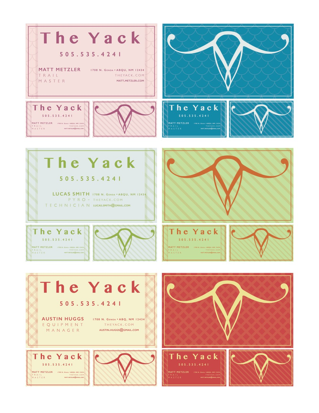 The Yack: Business Cards