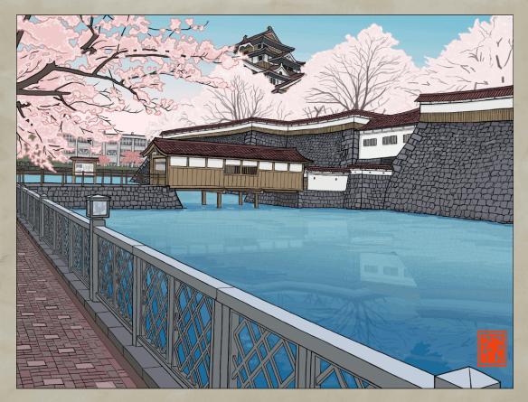 Fukui Castle, if it were still around today