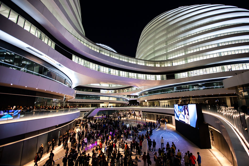 Galaxy SOHO Lights Up the Beijing Skyline  Research and