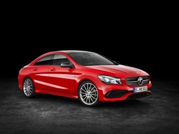 Mercedes-Benz CLA 200 d 4MATIC Coupé (C117) 2016. Jupiter red, interior: black leather. Fuel consumption (l/100 km) urban/ex urban/combined: 5.5/4.0/4.6 combined CO2 emissions: 119 g/km