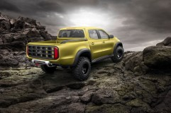 Mercedes-Benz Concept X-CLASS powerful adventurer – Exterieur, Lemonaxmetallic ; Mercedes-Benz Concept X-CLASS powerful adventurer – Exterior, Lemonax metallic;