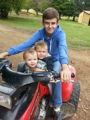 The three nephews, Daniel, Jordy and Ryan.