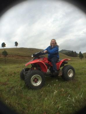 My Mrs, Megan, riding a quad like a champion!