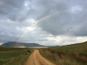 The rainbow seemed to end on a beef farm -- fitting, given that beef is heaven-sent deliciousness.