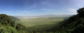After an all-too-brief stopover at Gibb's, we made our way towards the Serengeti National Park. En route our driver and guide, Ayoob, told us to close our eyes. When we stopped and we opened them again, this is what we were treated to: the Ngorongoro Crater. It is spectacular.