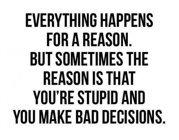 Decisions, decisions, decisions…