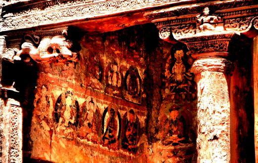 Boddhisatva mural at Amchi, the oldest monastery in Ladakh | Ladakh
