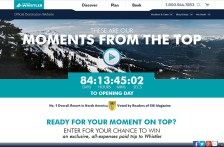 Advertising & Communications Course - Tourism Whistler - Microsite