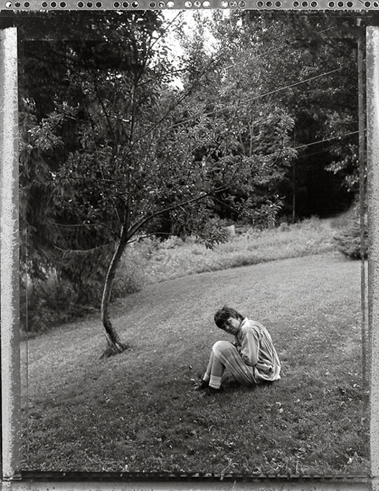 Christina and her tree, Copake, New York, 2001.