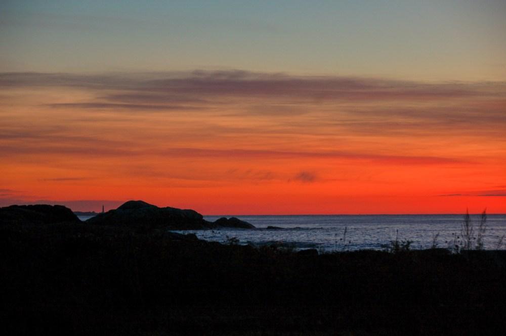 Brace Rock, dawn, Gloucester, Massachusetts