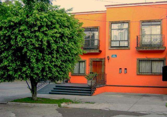 An orange house in Guadalajara. Jalisco