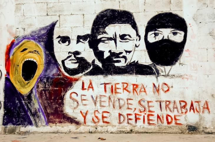 An environmentalist mural in Cancun, Mexico