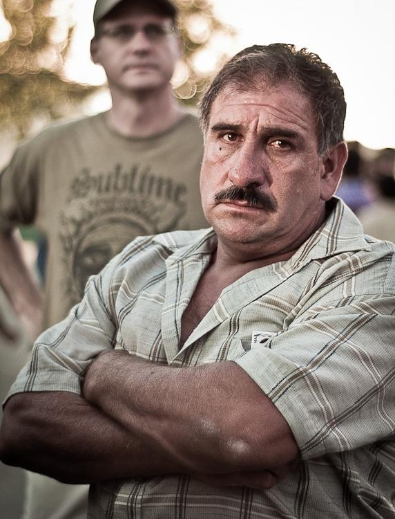 Grumpy man at Texas State Fair 2011