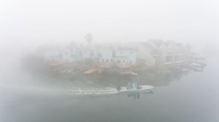 Foggy Padre Island