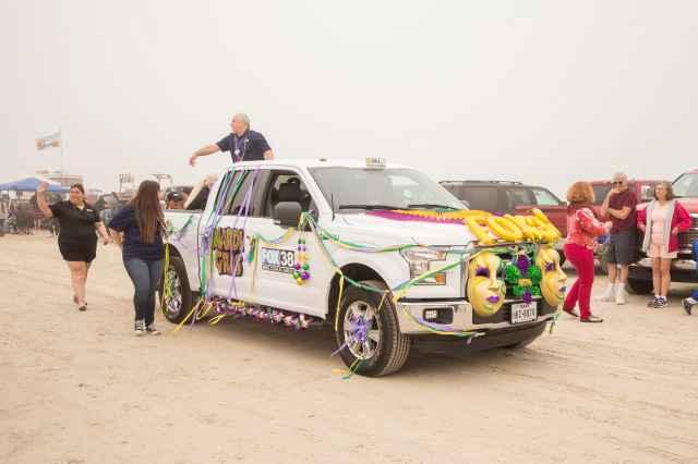 FOX 38 Float at the 2018 Padre Island Barefoot Mardi Gras Parade
