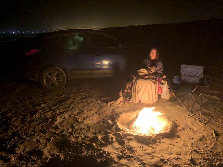 Padre Island Camp Fire