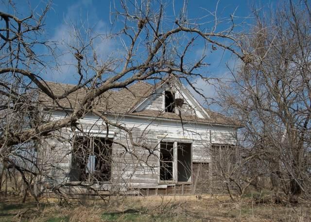A very creepy dilapidated house