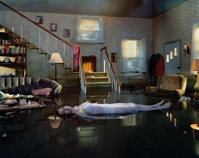 Tableau Photographer Gregory Crewdson - Untitled (Ophelia), 2001
