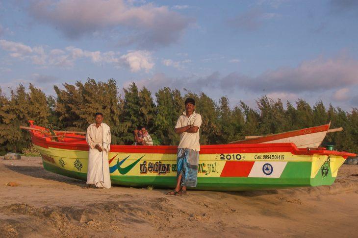 Fisherman on Nagapattinam Beach