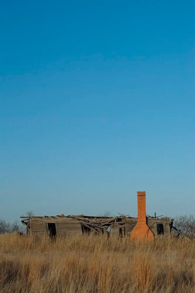 An old prairie home in North Texas
