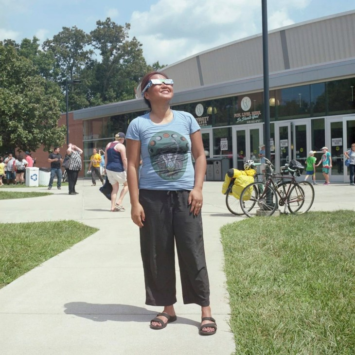 Total solar eclipse at SIU in Carbondale, Illinois by Matthew T Rader