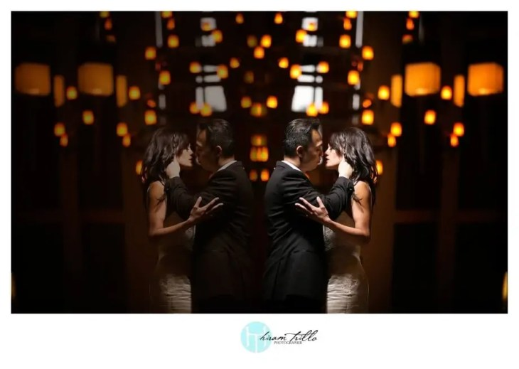 Bride and Groom Reflection by Hiram Trillo