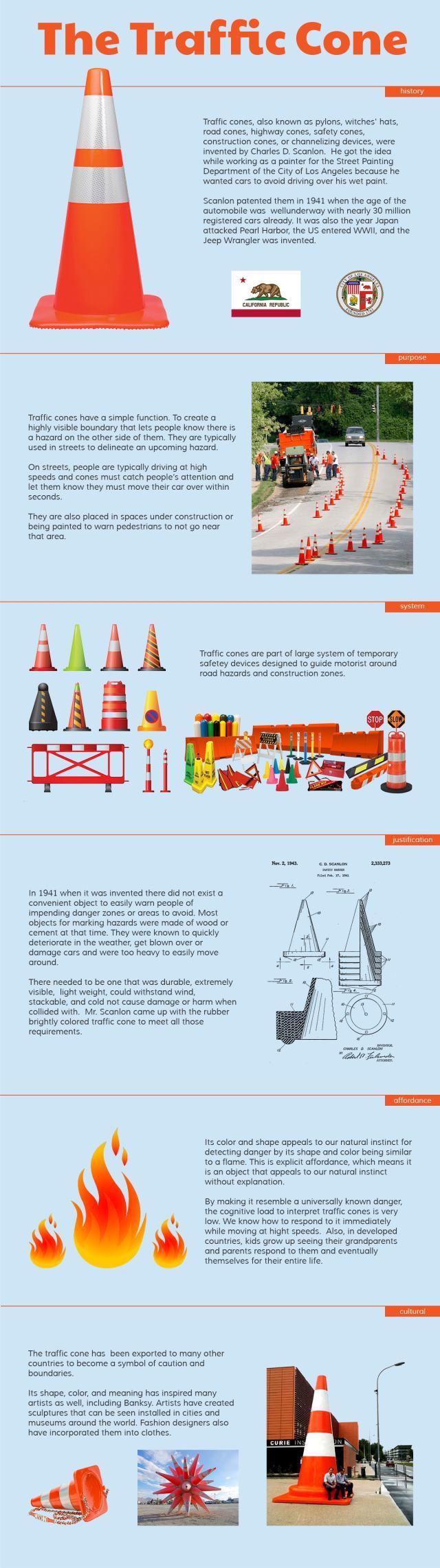 Traffic Cone Infographic