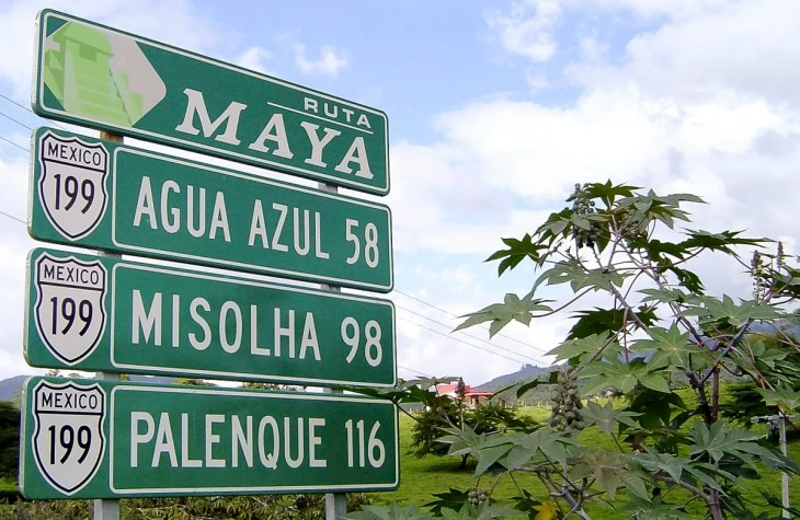 Chiapas Road Sign