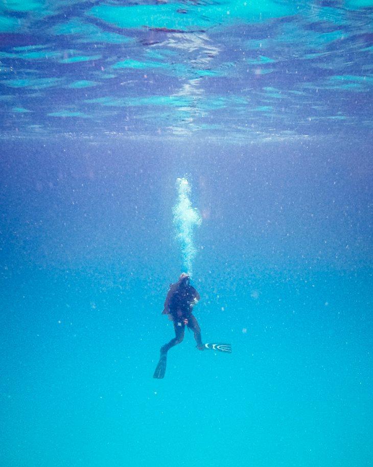 Scuba diving in Cozumel.