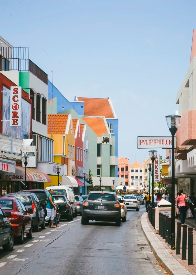 A street in Willemstad, Curaçao