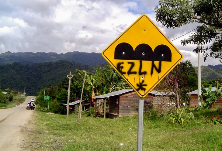 EZLN graffiti in Chiapas, Mexico