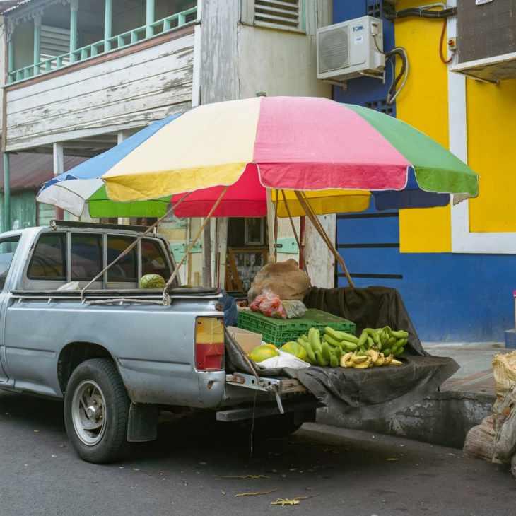 Fruit truck in Soufriere, St. Lucia