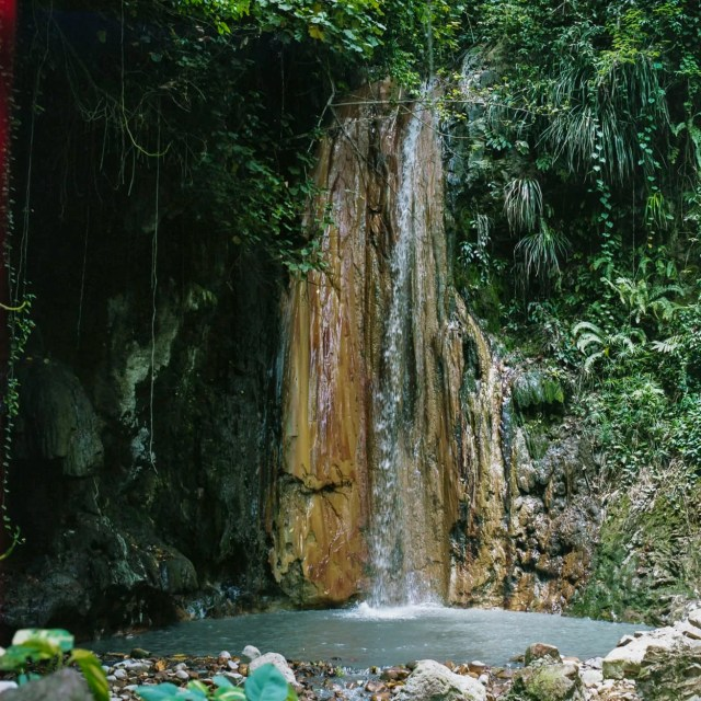 Superman Waterfall in Malgretoute, St. Lucia