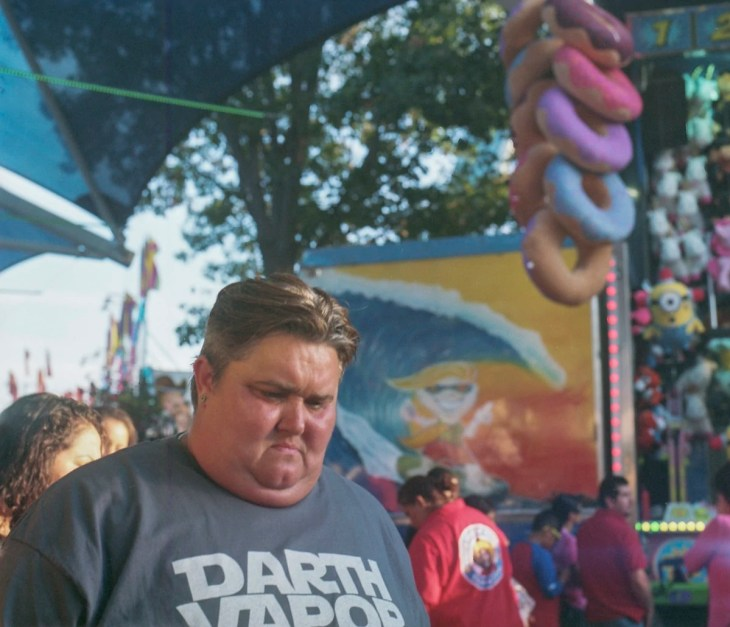 People at the State Fair of Texas on Medium Format Film