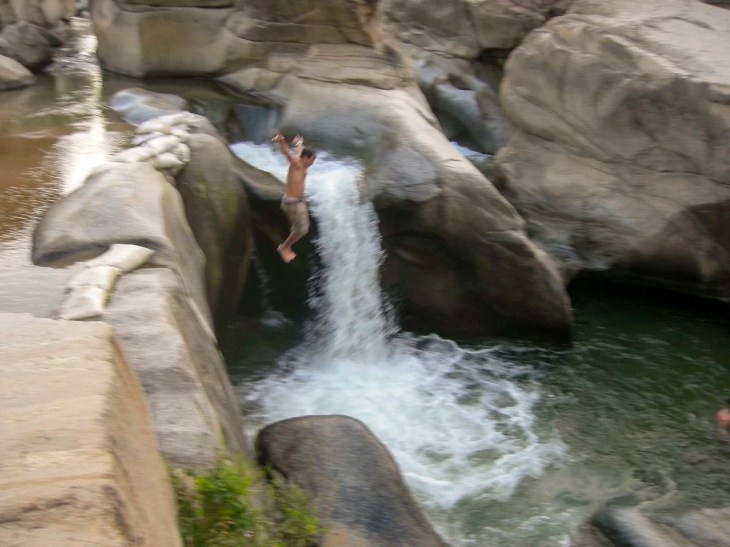 Me jumping off of waterfall outside of Puerto Vallarta