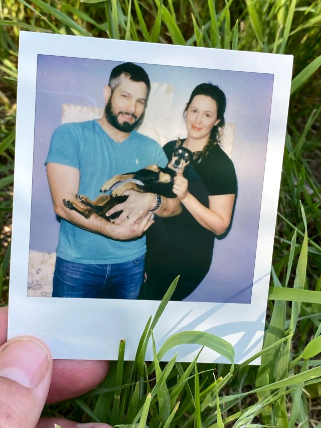 Our last photo with our little guy, miniature pinscher