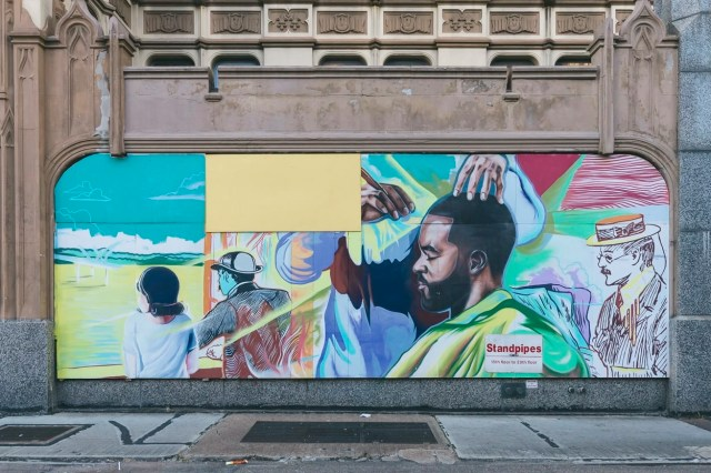 Barbershop mural in Memphis, Tennessee
