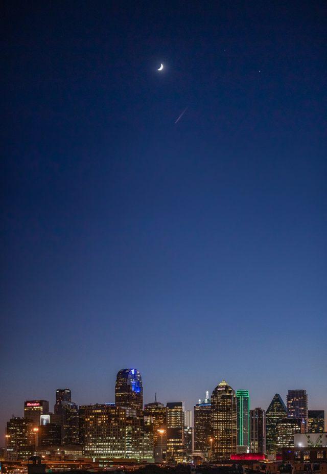 Dallas Skyline Panoramic Photos At Night