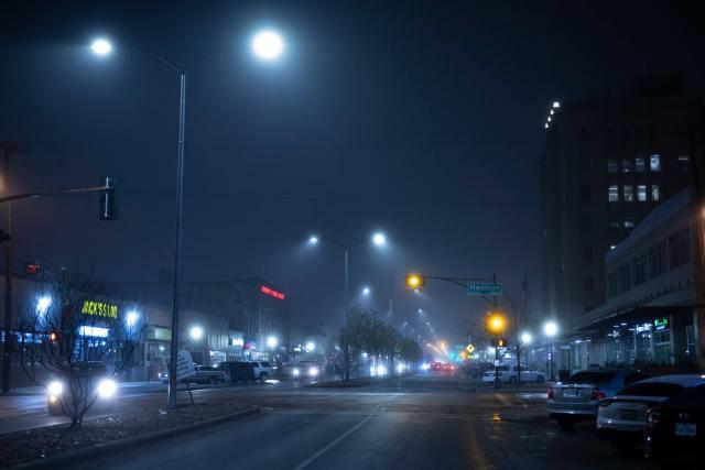 Jefferson Boulevard at Night