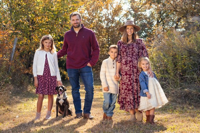 Family portrait of Sam and Nia Rader in Heath, Texas. 2020 Best Photos