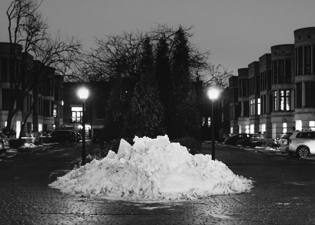 Snow pile in Downtown Chicago
