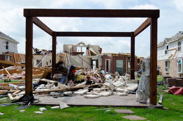 Tragic destruction of homes in Forney, Texas