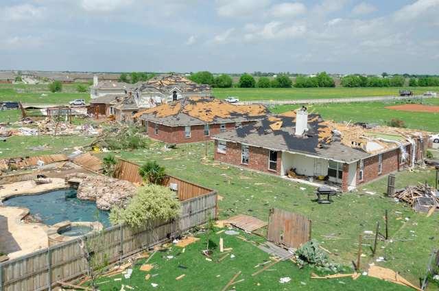 Diamond Creek subdivision tornado damage aftermath