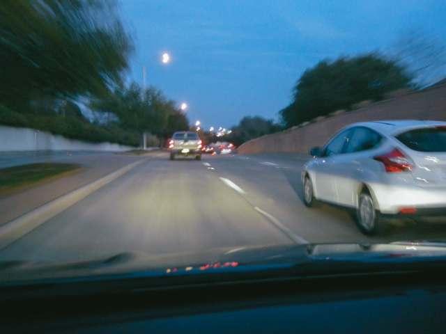 Evening commute down Royal lane